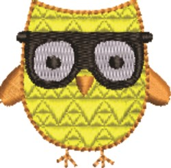 Studious Owl embroidery design