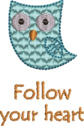 Blue Owl embroidery design