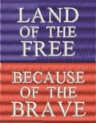 Patriotic Badge embroidery design
