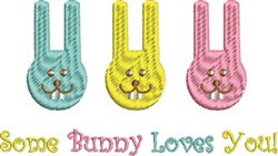 Silly Pastel Bunnies embroidery design
