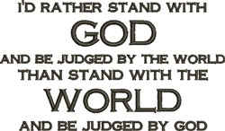 Stand with God embroidery design