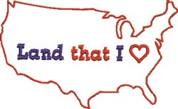 USA Outline embroidery design