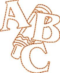 ABC Crayon embroidery design
