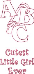 Cutest Little Girl embroidery design