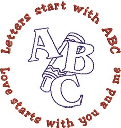 Start With ABC embroidery design