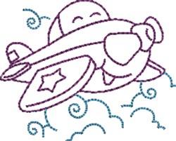 Cartoon Airplane embroidery design