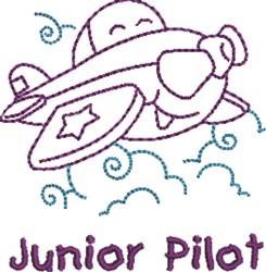 Junior Pilot embroidery design