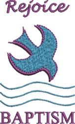Rejoice Baptism embroidery design