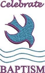 Celebrate Baptism embroidery design