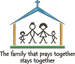Family Prays Together embroidery design