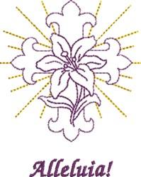 Alleluia Cross embroidery design