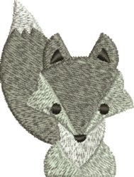 Fox embroidery design