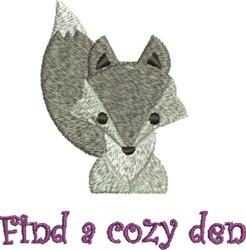A Coxy Den embroidery design