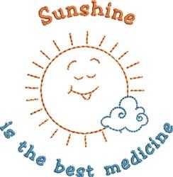 Sunshine Medicine embroidery design