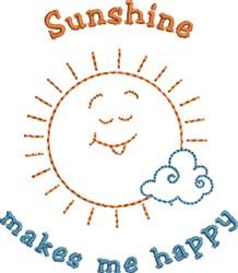 Happy Sunshine embroidery design