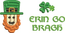 Erin Go Bragh embroidery design