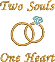 Two Souls embroidery design