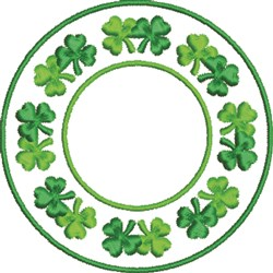 Shamrock Wreath embroidery design