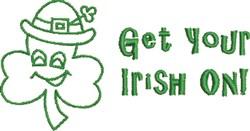 Get Irish On embroidery design