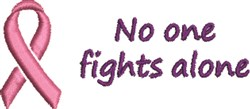 No One Fights Alone embroidery design