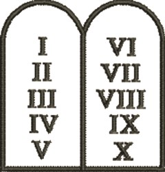 Ten Commandments embroidery design