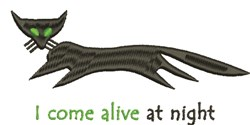 Alive At Night embroidery design