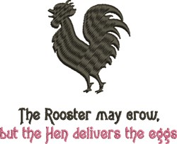Rooster May Crow embroidery design