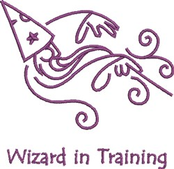 Wizard In Training embroidery design