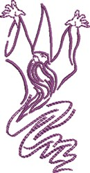 Wizard Outline embroidery design