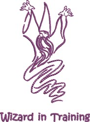 Wizard Training embroidery design