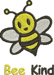 Bee Kind embroidery design