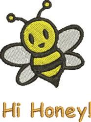 Hi Honey! embroidery design