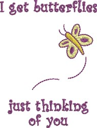 Thinking Of You Butterfly embroidery design