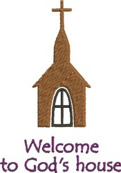Welcome To Gods House embroidery design