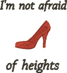 Not Afraid Of Heights embroidery design