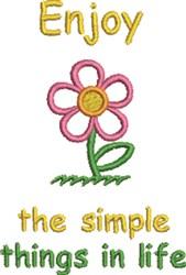 Enjoy Life Daisy embroidery design