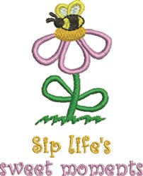 Flower & Bee Moments embroidery design