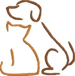 Friends Furever embroidery design