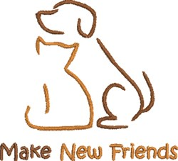 Make New Friends embroidery design