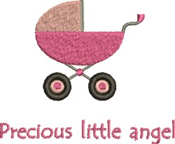Precious Little Angel Carriage embroidery design