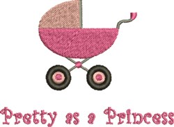 Princess Baby Carriage embroidery design