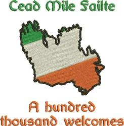 Ireland Cead Mile Failte embroidery design