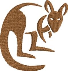 Kangaroo embroidery design