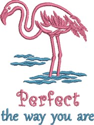 Pink Flamingo embroidery design