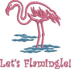 Lets Flamingle! embroidery design