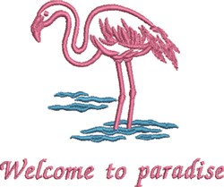 Pink Flamingo Paradise embroidery design