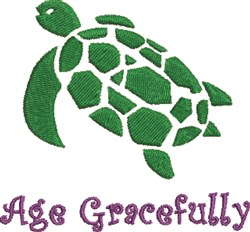 Sea Turtle Age Gracefully embroidery design