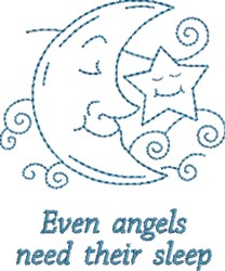 Sleepy Time Angels embroidery design