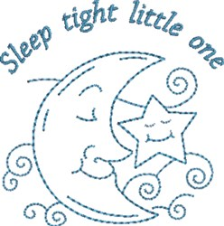 Sleep Tight Little One embroidery design