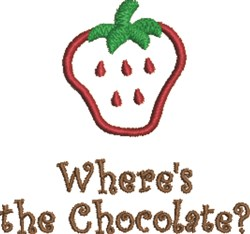 Strawberry & Chocolate embroidery design